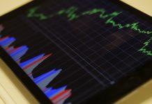 aandelenkoers op tablet
